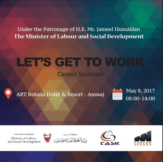 Speaking @ Let's Get to Work Seminar